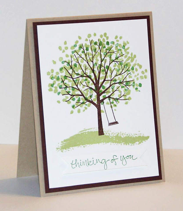 Stampin Up Sheltering Trees