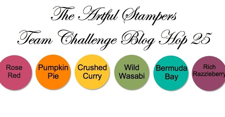 The Artful Stampers Blog Hop Challenge 25