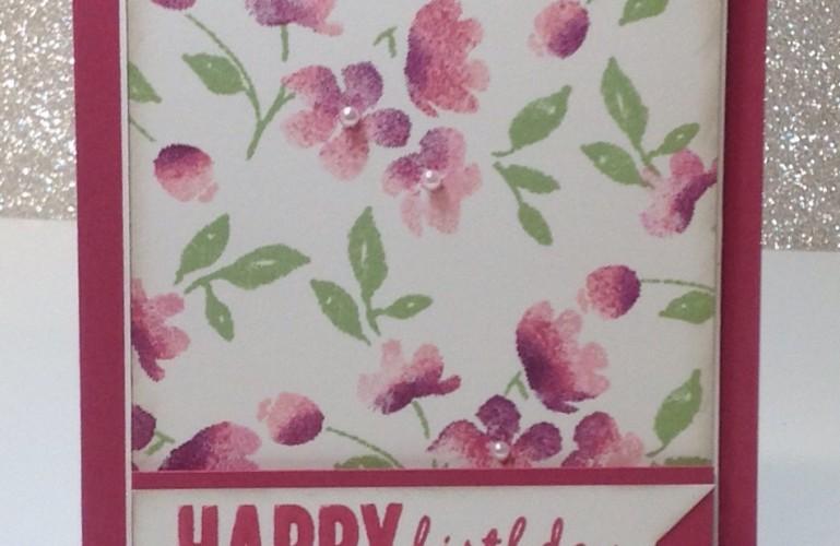 Stampin Up Painted Petals