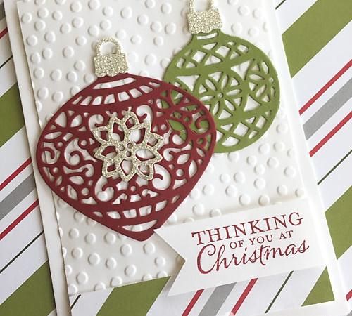 Stampin Up Embellished Ornaments