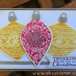 Stampin Up Embellished Ornaments