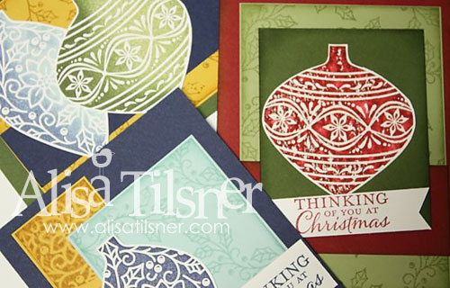 Stamp by Mail Embellished Ornaments