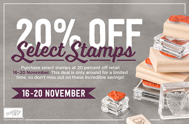 20% Off Select Stamps – 5 days only